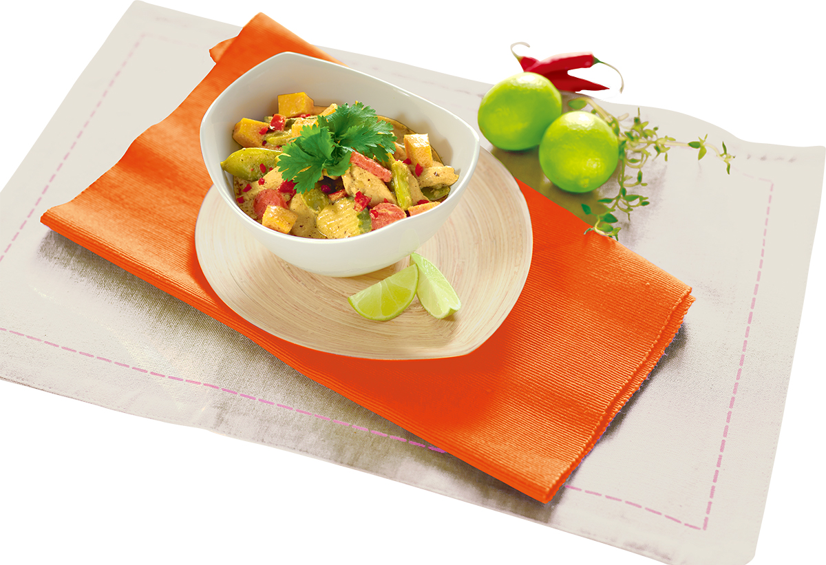 Curry z kurczaka z dynią i warzywami