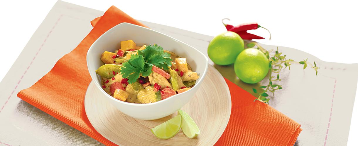 Curry zkurczaka zdynią iwarzywami