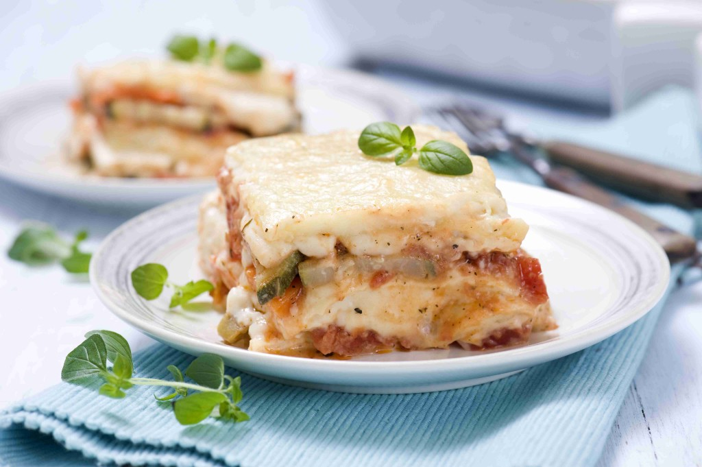 Colorful vegetable lasagna