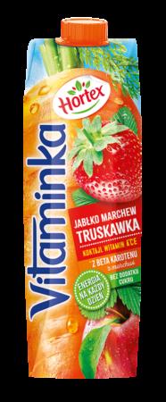 VitaminkaBC MarchewkaJablkoTruskawka karton 1L 1 1