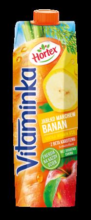 Vitaminka BananMarchewJablko karton 1L 1 1
