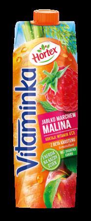 Vitaminka MarchewkaJablkoMalina karton 1L 1 1
