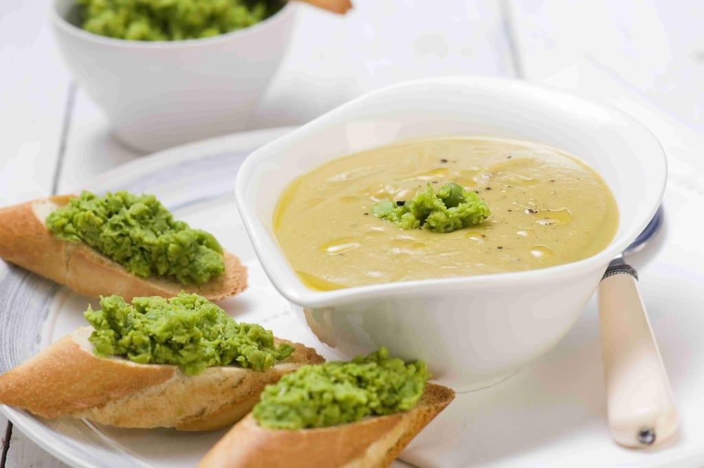 Zupa krem zgniecionym groszkiem