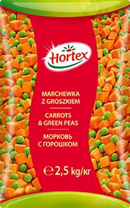 CARROTS & GREEN PEAS 2,5kg