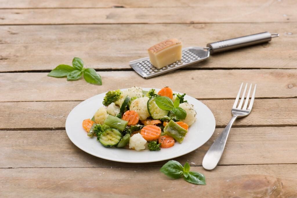 Warzywa z parmezanem