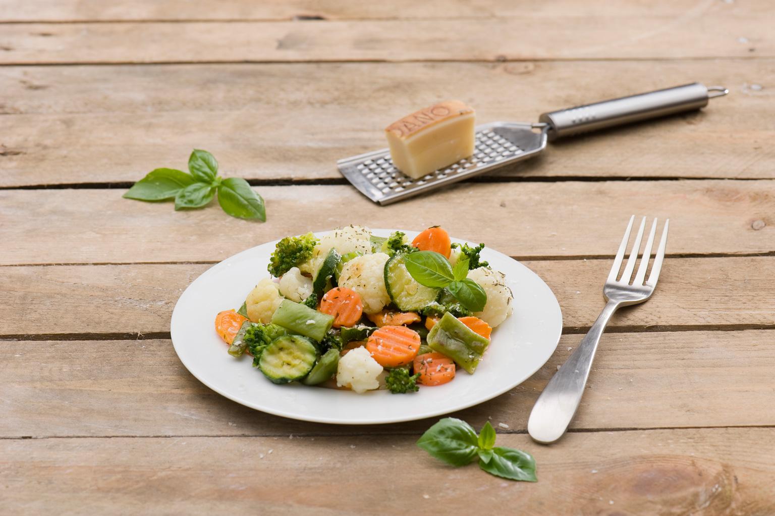 Warzywa zparmezanem