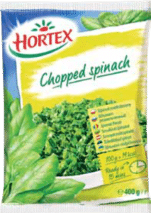 Chopped spinach 400g