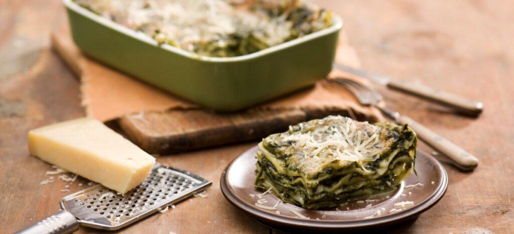 Zielone lasagne