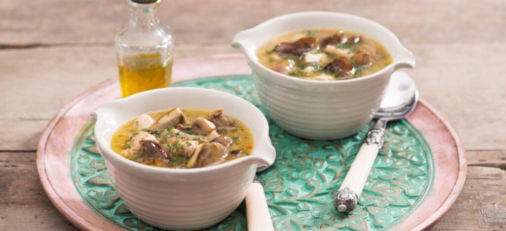 Zupa grzybowa z oliwą truflową
