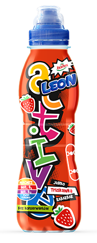 LEON ACTIVE APPLE STRAWBERRY AND RHUBARB 400ML