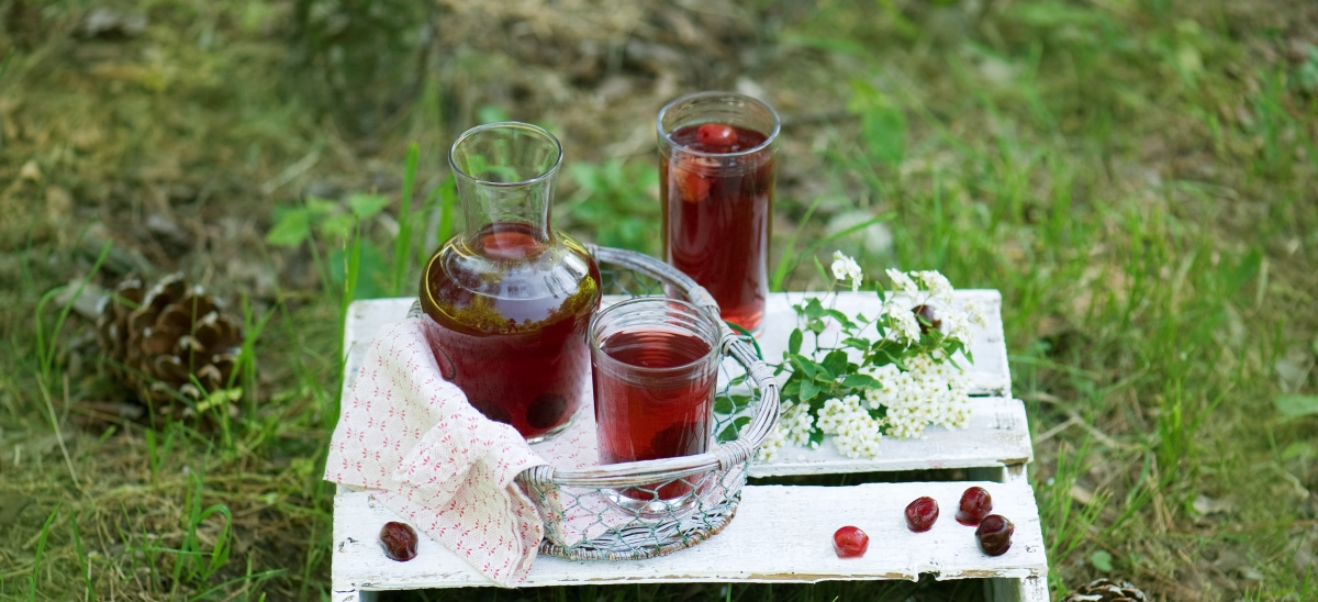 Kompot wiśniowy zciemnym cukrem Muscovado