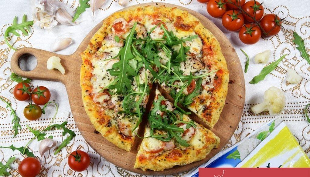 Pizza na spodzie zkalafiora