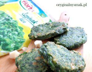 Placuszki szpinakowe z kozim serem i sosem jogurtowo image2 1