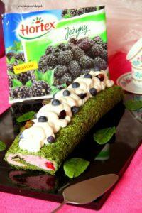 Rolada szpinakowa z czekoladowym kremem i jeżynami image3 3