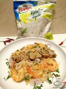 Smażony ryż z kalafiora z krewetkami image2 3