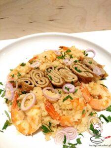 Smażony ryż z kalafiora z krewetkami image4 4