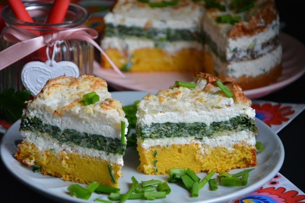 Tort warzywny z twarogiem