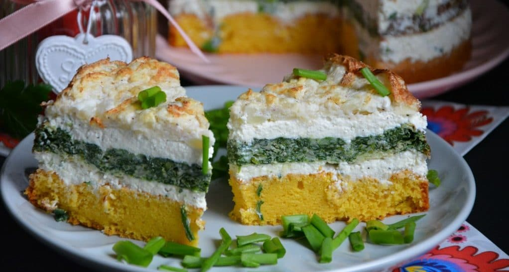 Tort warzywny ztwarogiem