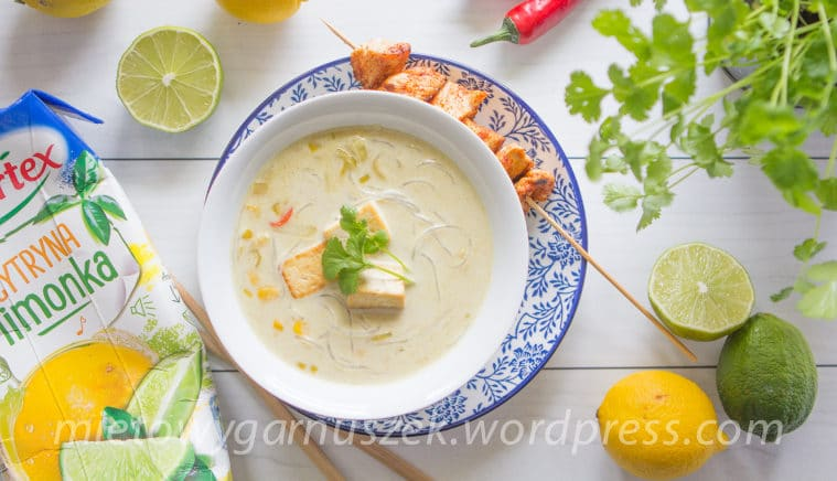 Zupa tajska z soku Hortex