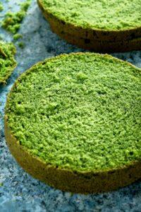 Zielony tort z owocami lata image2 2