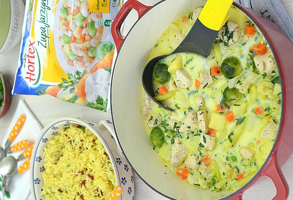 Obiadowa potrawka z kurczaka w warzywach