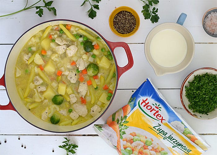 Obiadowa potrawka zkurczaka wwarzywach
