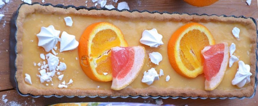 Tarta pomarańczowo-grejpfrutowa