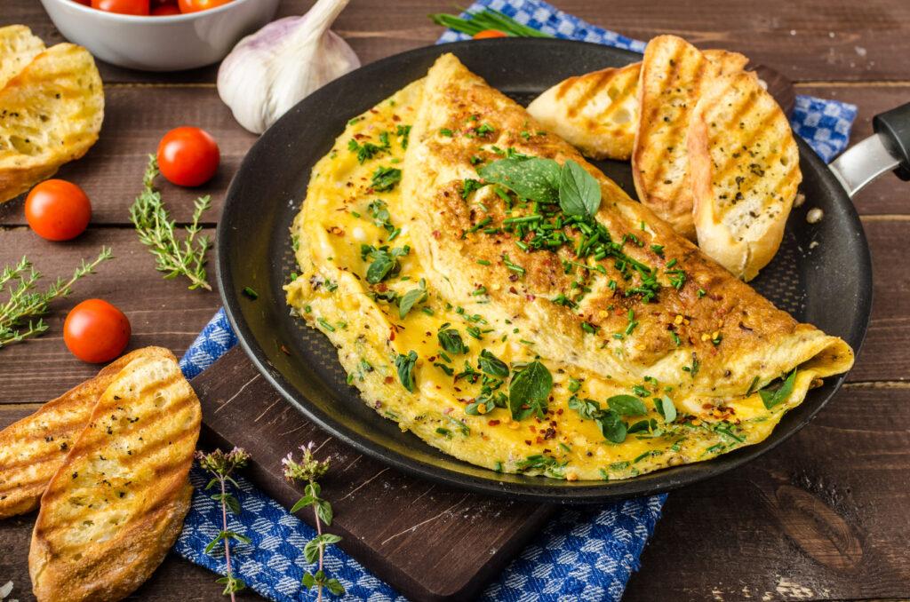 Jak zrobić omlet ze szpinakiem?