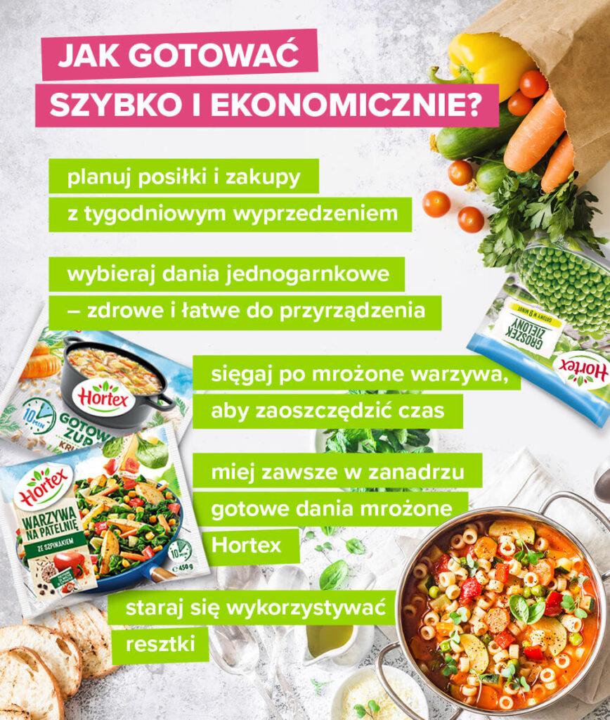 Jak gotować szybko iekonomicznie? - infografika