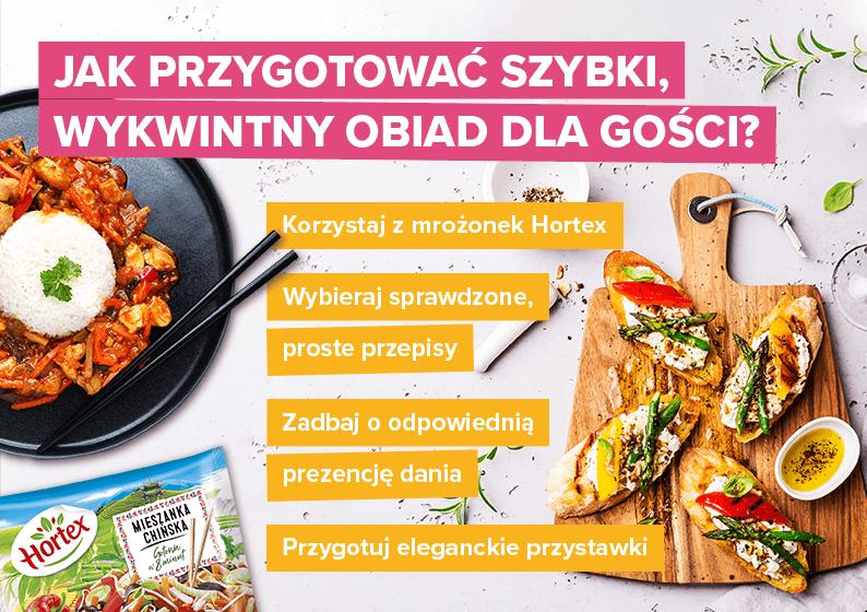 Jak przygotować szybki, wykwintny obiad dla gości? - infografika
