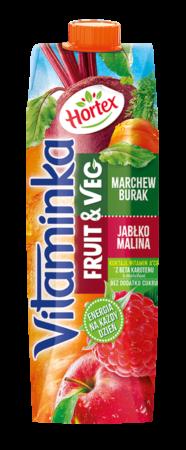 Vitaminka FruitsVeg Burak Malina Karton 1L 1