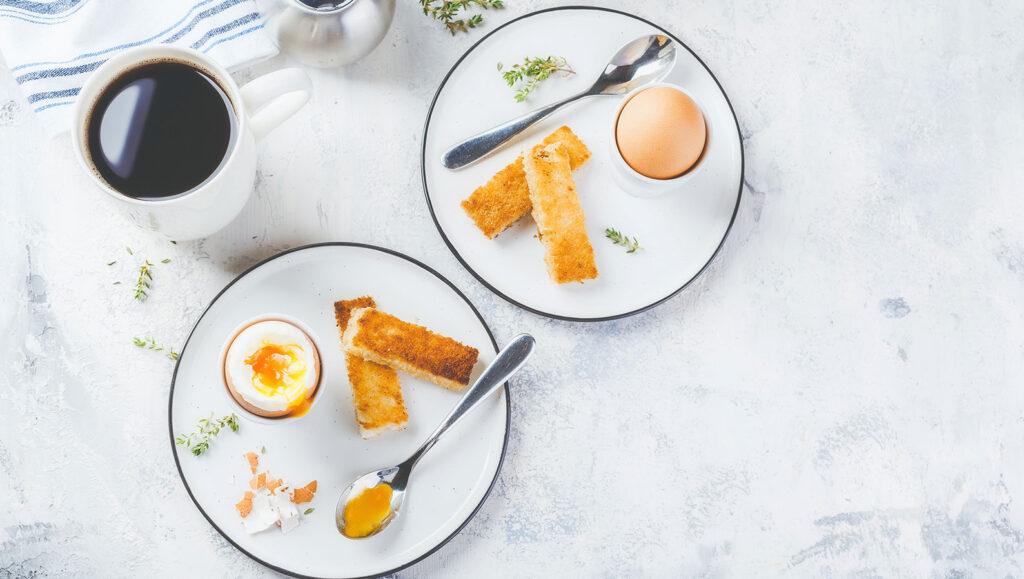 jajko na miękko - propozycja podania
