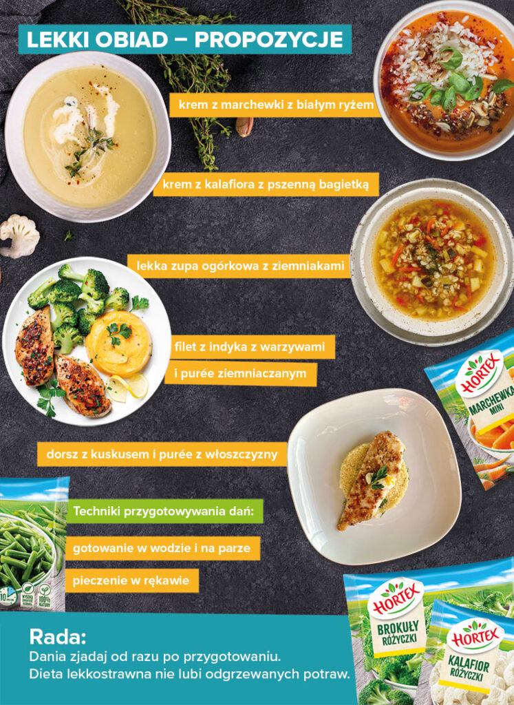 Lekki obiad – propozycje  - infografika